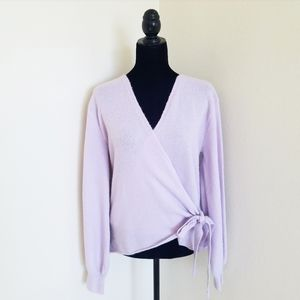 A new day lavender wrap soft sweater NWT
